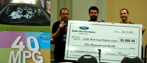 Ford & Brian K. Vaughan Donate to CBLDF at Wizard World Philly
