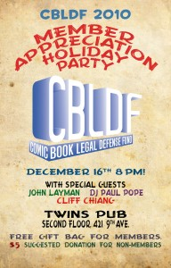 This Thursday: CBLDF Member Appreciation Holiday Party in NYC!