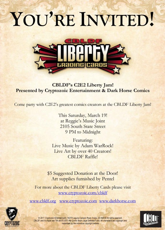 C2E2 Liberty Jam! This Saturday!