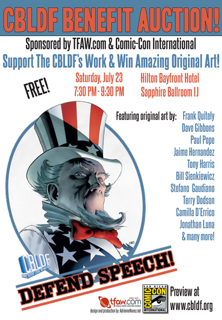 SDCC: You're Invited to the CBLDF Benefit Auction!