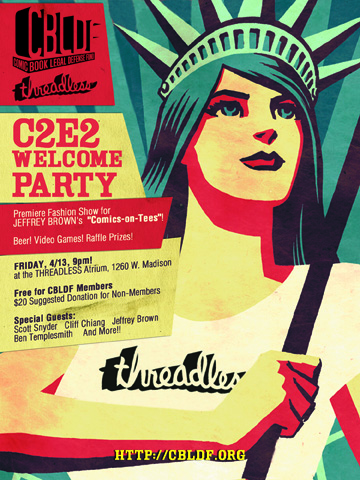 THREADLESS Hosts C2E2 Fashion Show Welcome Party to Benefit CBLDF!