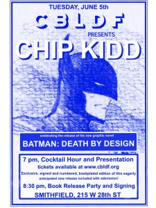 TONIGHT! Meet Chip Kidd at CBLDF's Book Expo Party!
