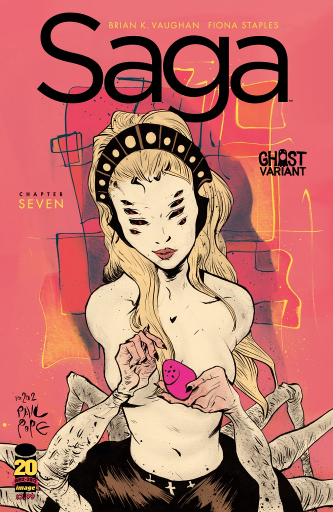 SAGA #7 Paul Pope &#8220;Ghost Variant&#8221;, now available!