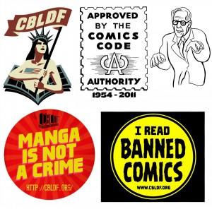cbldf sticker pack