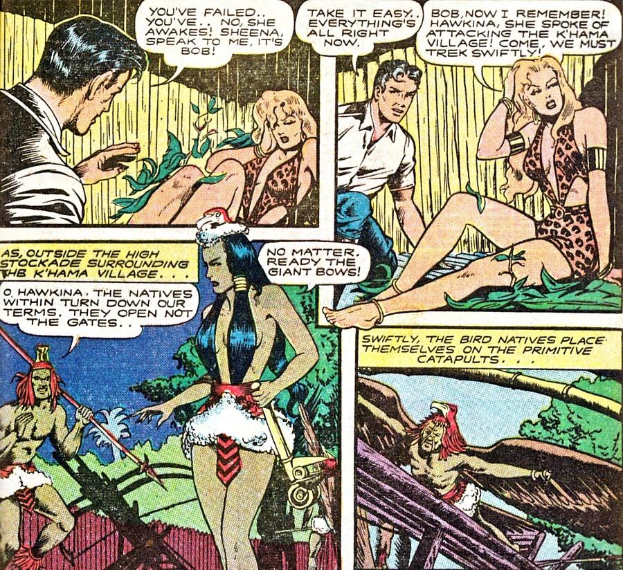 Adult Jungle comics girl