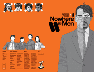 NOWHERE MEN #1 Launches CBLDF LIBERTY VARIANT Program At Wizard World Portland!
