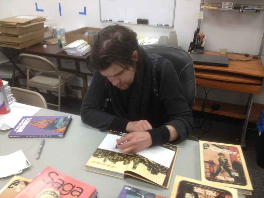PAUL POPE Visits the CBLDF Offices
