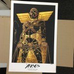 XERXES poster signed by Frank Miller, Printers Copy