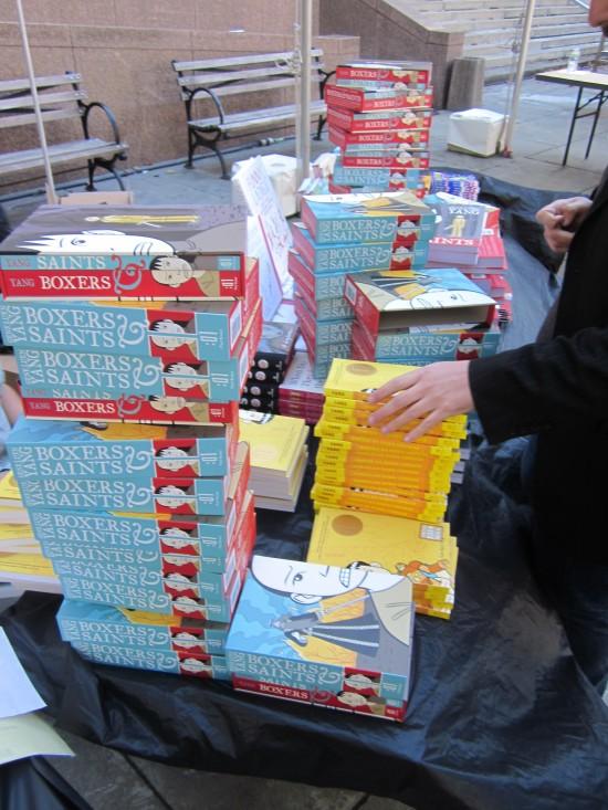 BrooklynBookFestival_2013_CBLDFBookStack-550x733