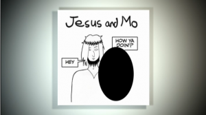 The censored image of  Jesus and Mo, run by Channel 4 News