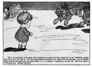 The Turr'ble Tales of Kaptin Kiddo, written by Margaret G. Hays and illustrated by Grace G. Wiederseim (1910)