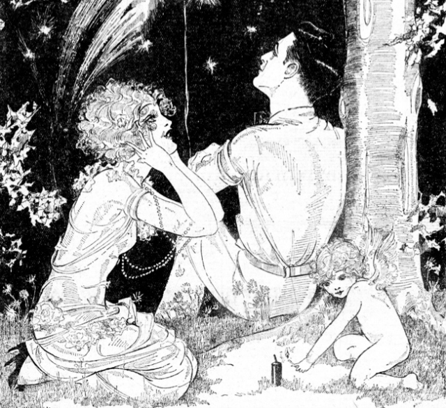 Illustration by Dorothy Flack, one of the many cartoonists to take their style from Nell Brinkley.