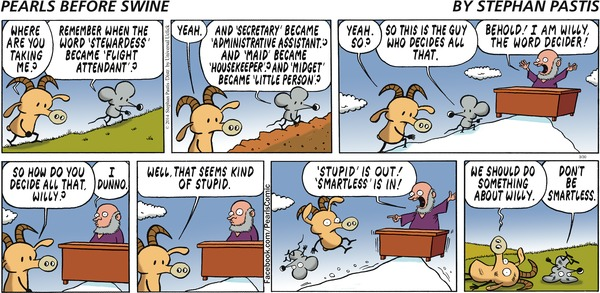 Washington Post Pulls Pearls Before Swine Strip