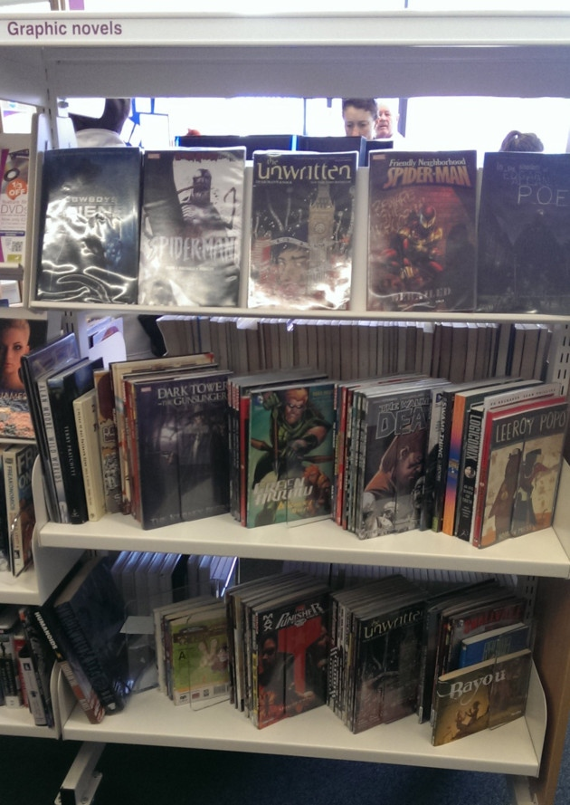 Graphic novels at Harpenden library