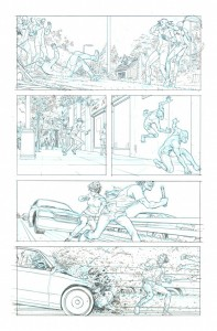 Original art from Jupiter's Legacy #3, page 15, by Frank Quitely.