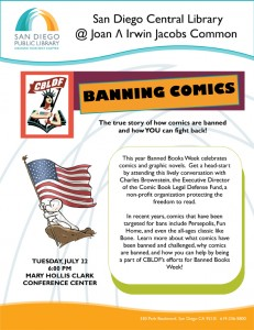 San Diego Public Library and CBLDF Warm up for SDCC with a Discussion of Banned Comics