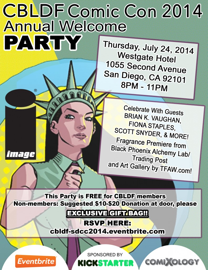 Start SDCC With CBLDF's Comic-Con Welcome Party!