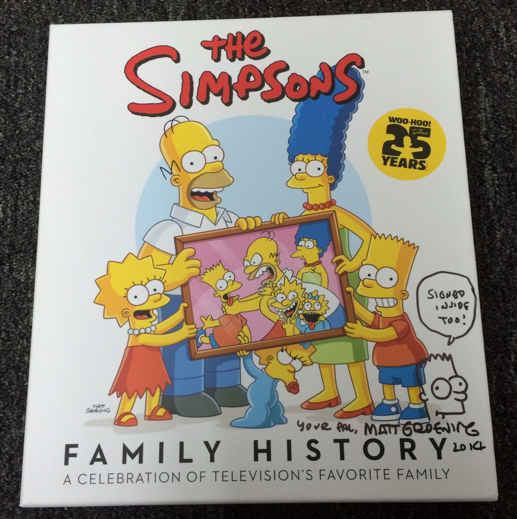 Bid Now on The Simpsons Family History, Signed and Sketched by Matt Groening!