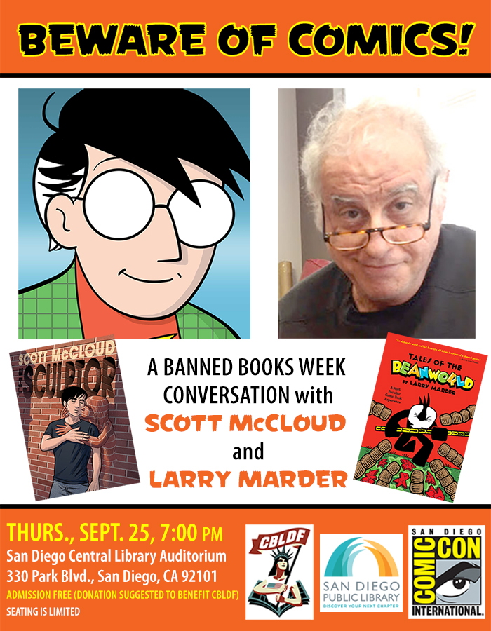 Join Scott McCloud and Larry Marder in San Diego for Banned Books Week!