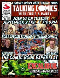 Banned Books Talking Comics