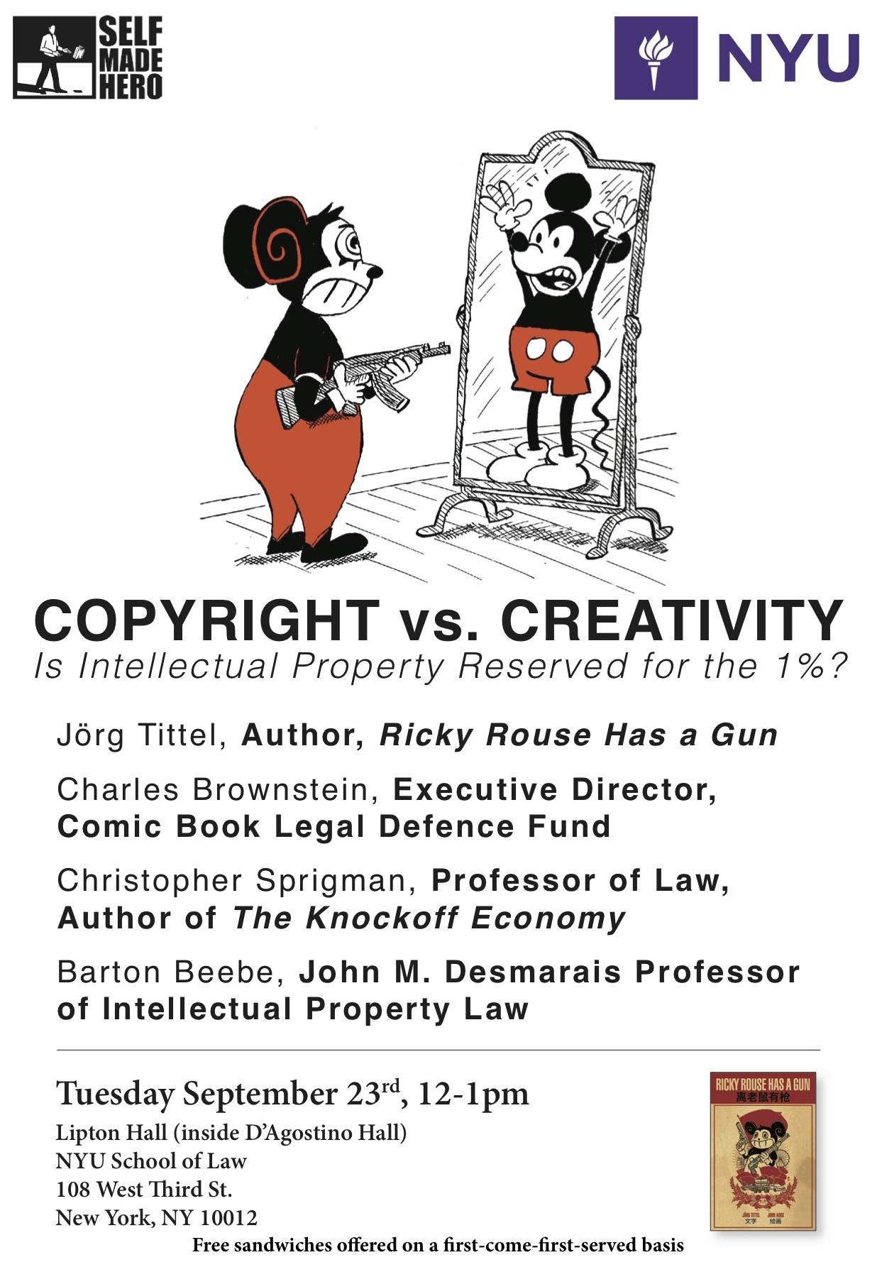 Watch Last Week's Copyright vs  Creativity Panel at NYU Law