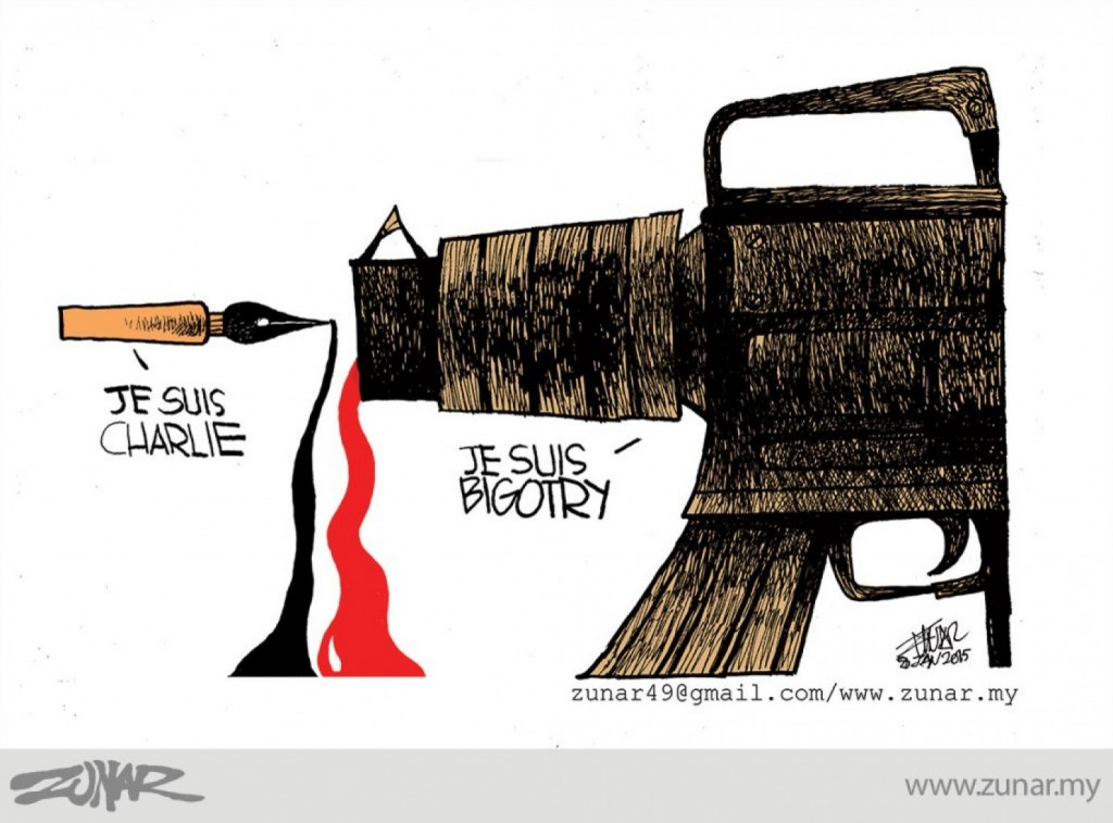 Zunar Calls for World Cartoonists Day on Anniversary of Charlie Hebdo Attack