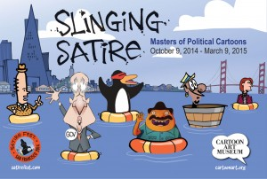 Cartoon Art Museum Hosts Panel Discussion on Satire with Masters of Political Cartoons