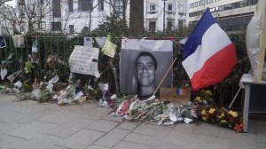 The spot where policeman Ahmed Merabet was killed, a short distance from the Charlie Hebdo offices. (c) Dylan Horrocks