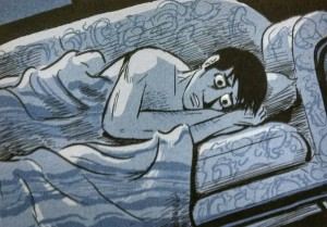"Panel from Scott McCloud's ""The Sculptor"""