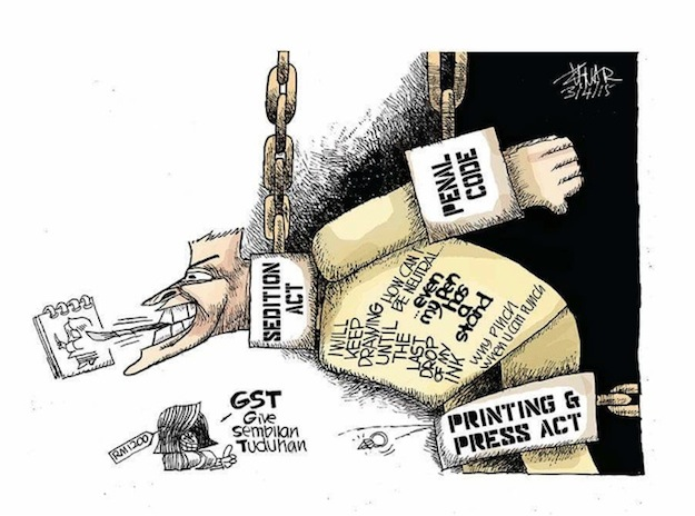 Zunar Condemns Malaysian Government's Hypocrisy on Free Expression