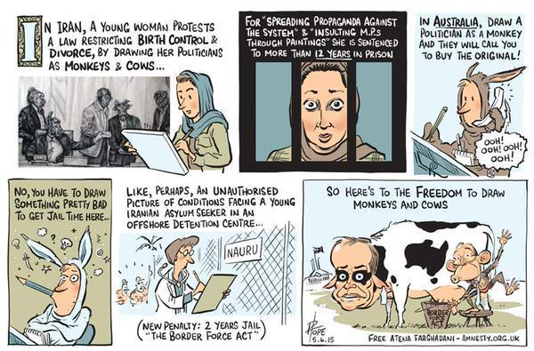 Cartoon by David Pope with the Canberra Times