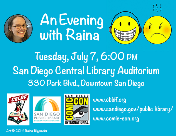 Get Ready for Comic-Con with Raina Telgemeier at the San Diego Central Library!