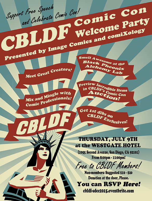 Start Your SDCC Experience at the CBLDF Welcome Party, Presented by Image Comics & comiXology!