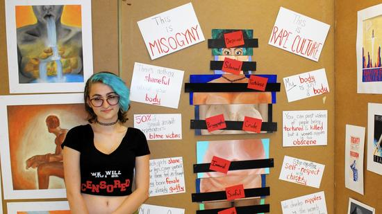 High School Student Fights to Display Work on Body Shaming and Censorship