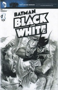 Batman: Black and White cover by Alex Ross
