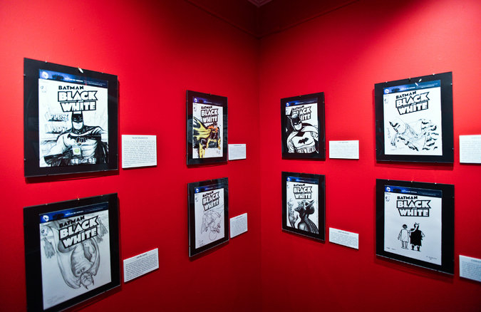 Batman Paints the Town Black and White in Society of Illustrators Exhibit