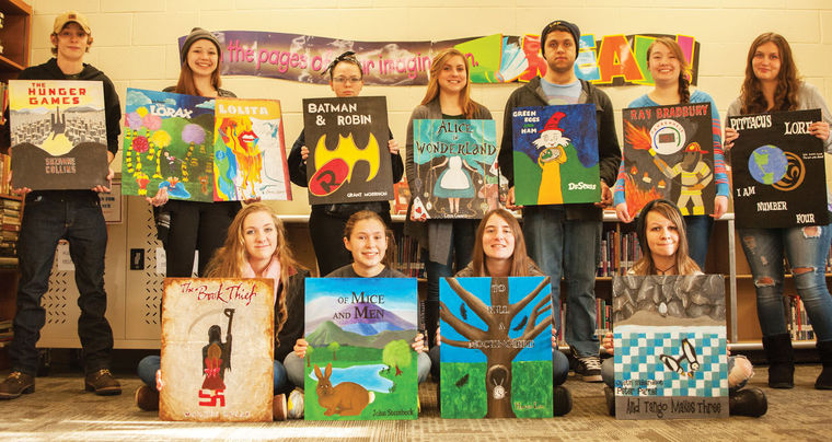 NH Students Recreate Banned Book Covers