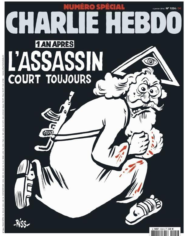 Charlie Hebdo attack anniversary cover