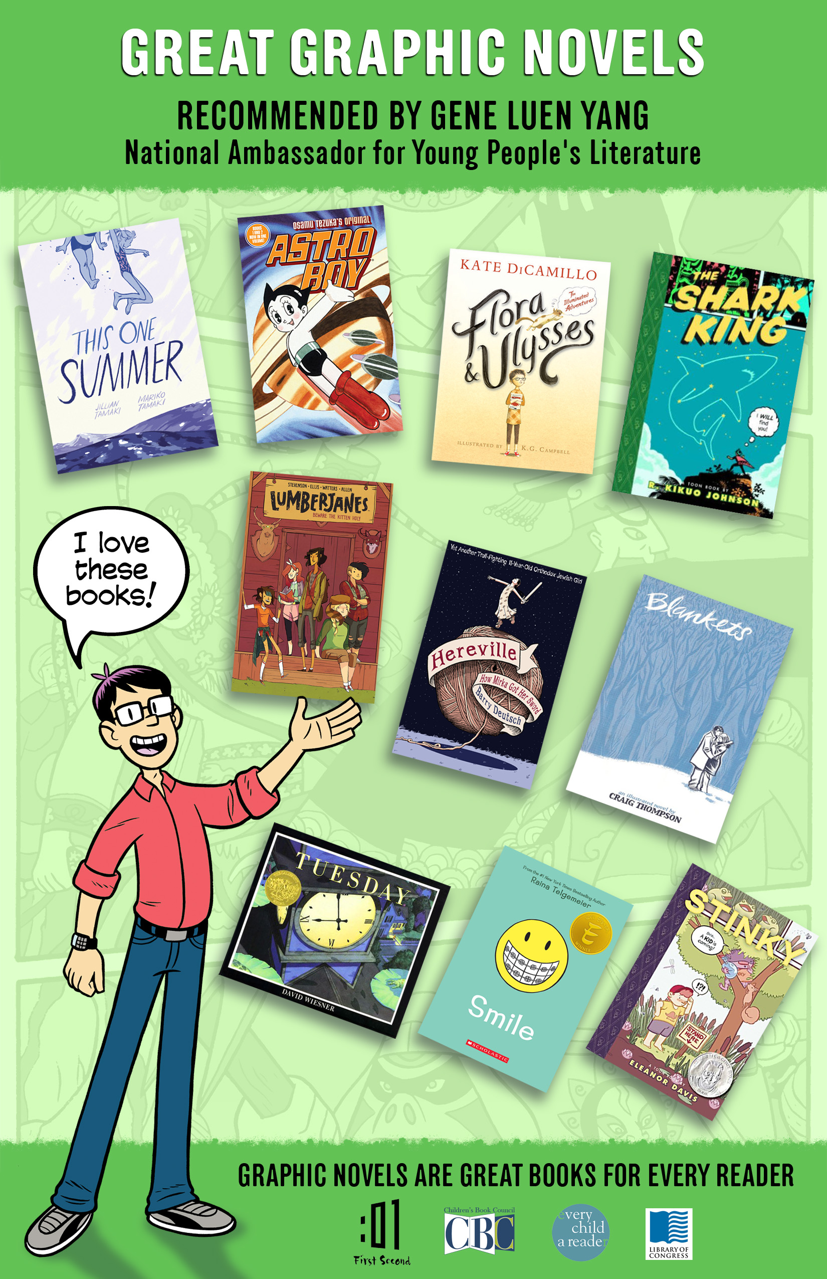 National Ambassador for Young People's Literature Gene Luen Yang Names Recommended Reading List