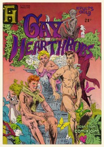 Gay Hearthrobs #1 (Ful-Horne Productions, 1976), the first all-gay comic