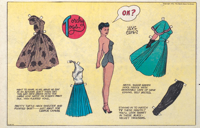 Torchy Togs paper doll, a regular feature from Torchy in Heartbeats