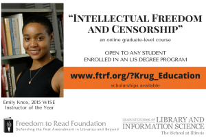 Krug Fund Offers Scholarships for Online Intellectual Freedom Course