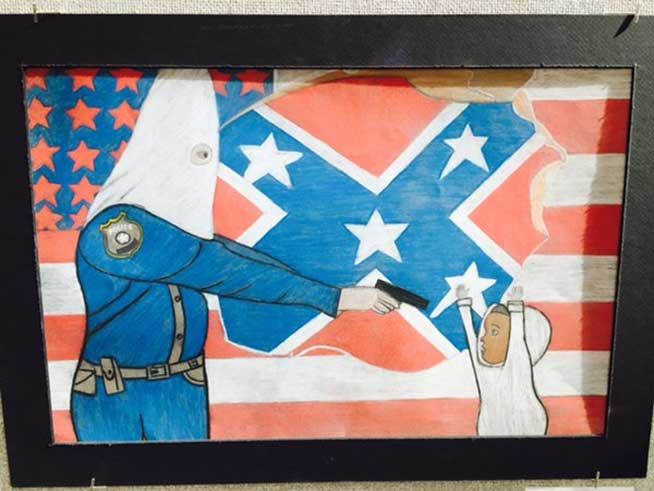 Police Demand Removal of Denver Student's Art