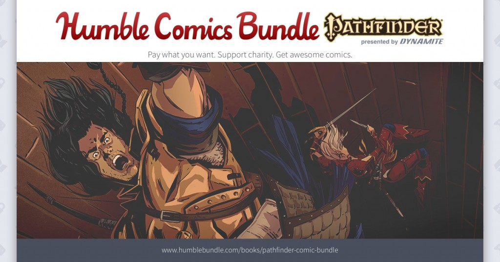 Dynamite, Paizo, and Humble Expand Pathfinder Comics Bundle for Charity, Including CBLDF!