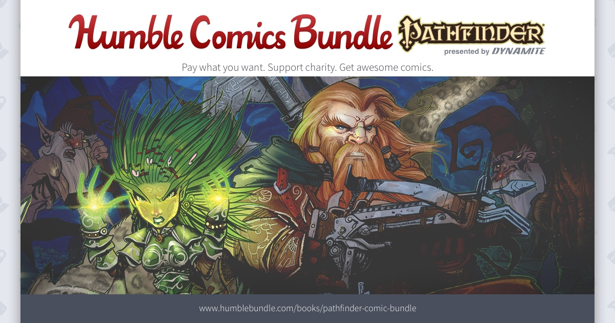 Dynamite, Paizo, and Humble Pack New Bundle with 30+