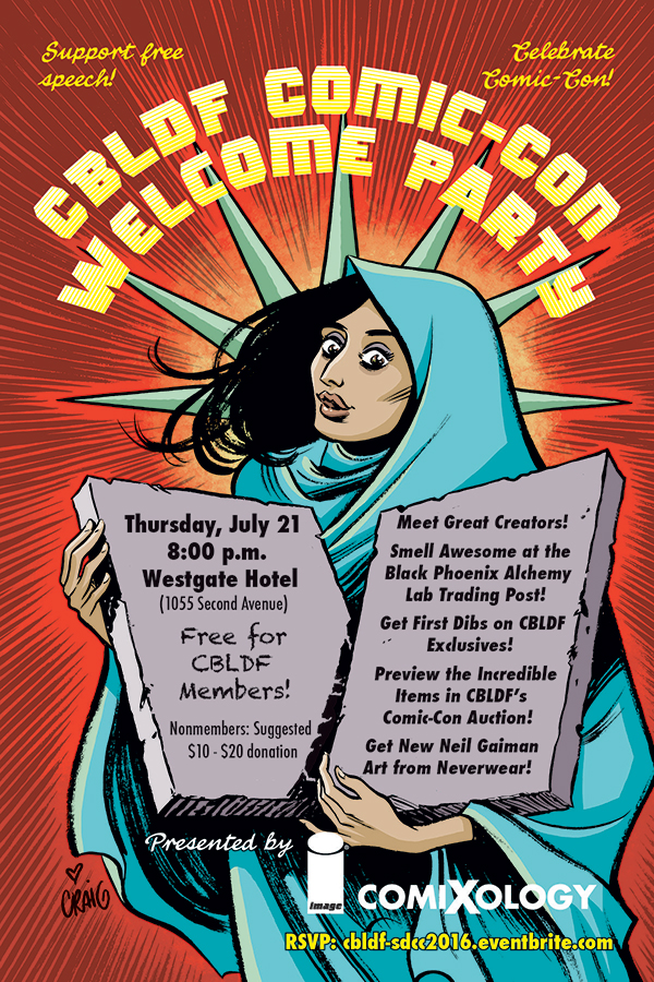 SDCC 2016: Thursday with CBLDF Means It's Party Time!