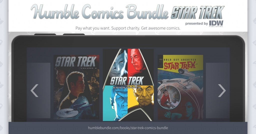 IDW and Humble Bundle EXPAND Star Trek Comics Bundle for Charity, Including CBLDF!