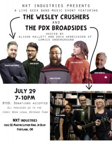 Portland: Enjoy a Live Music Celebration of Geek Culture This Friday to Benefit CBLDF!