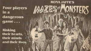 """Newspaper ad for 1982 film """"Mazes and Monsters"""""""