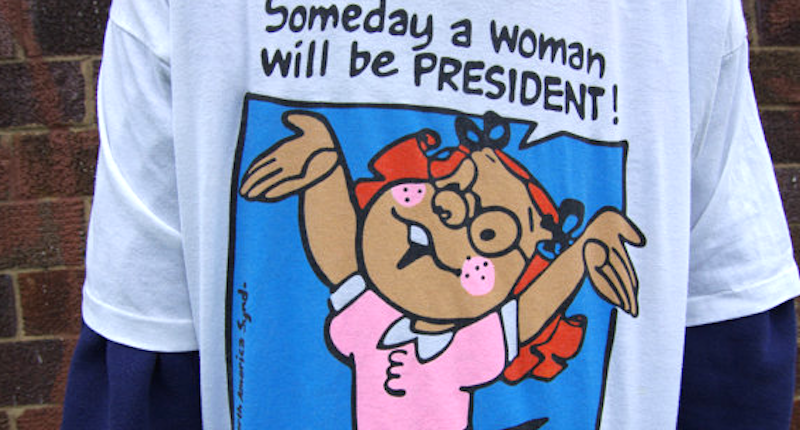 Twenty Years Later, Walmart Regrets Pulling 'Woman President' Shirt